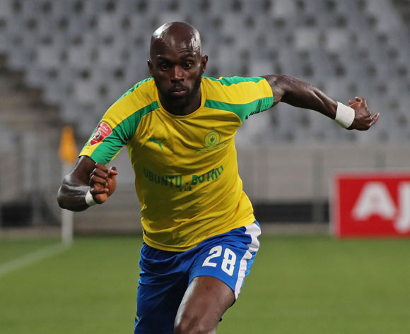 Anthony Laffor of Mamelodi Sundowns during the Absa Premiership 2016/17 football match between Ajax Cape Town and Mamelodi Sundowns at Cape Town Stadium, Cape Town on 30 November 2016 ©Chris Ricco/BackpagePix