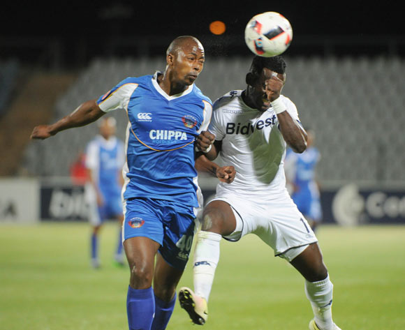 Bongani Khama of Chippa United challenges Gabadinho Mango of Bidvest Wits  during the Absa Premiership match between Bidvest Wits and Chippa United  01 November 2016 at Dobsonville Stadium Pic Sydney Mahlangu/ BackpagePix