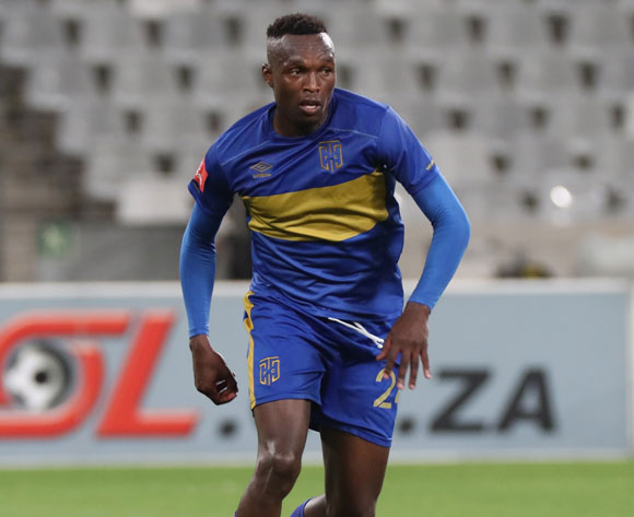 Sibusiso Masina of Cape Town City FC during the Absa Premiership 2016/17 football match between Cape Town City FC and Bloemfontein Celtic at Cape Town Stadium, Cape Town on 2 November 2016 ©Chris Ricco/BackpagePix