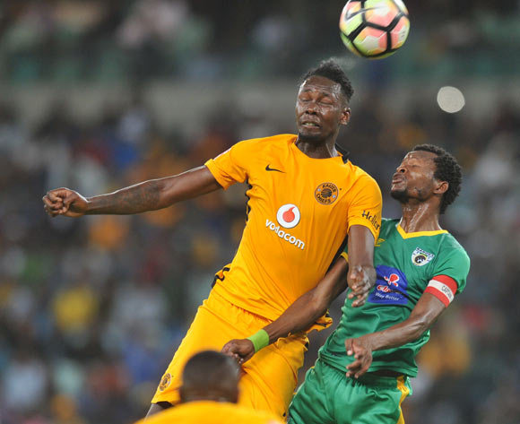 Erick Mathoho of Kaizer Chiefs challenged by Dineo Shaku of Baroka FC during the Absa Premiership 2016/17 Kaizer Chiefs and Baroka FC at Moses Mabhida Stadium, Durban South Africa on 02 Nomvember 2016 ©Muzi Ntombela/BackpagePix