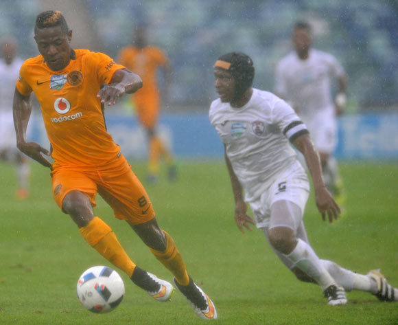 Michelle Katsvairo of Kaizer Chiefs challenged by Paulus Masehe of Free State Stars during the 2016 Telkom Knockout match between Kaizer Chiefs and Free State Stars at Moses Mabhida Stadium, Durban South Africa on 06 Nomvember 2016 ©Muzi Ntombela/BackpagePix
