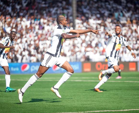 Merveille Bope celebrate scoring the first goal for TP Mazembe if Final of the Confederation Cup