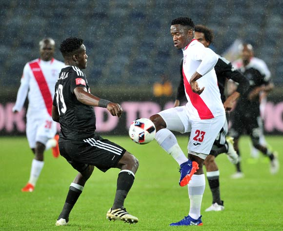 Moeketsi Sekola of Free State Stars takes on Justice Chabalala of Orlando Pirates during the Absa Premiership 2016/17 game between Orlando Pirates and Free State Stars at Orlando Stadium, Johannesburg on 19 November 2016 © Ryan Wilkisky/BackpagePix