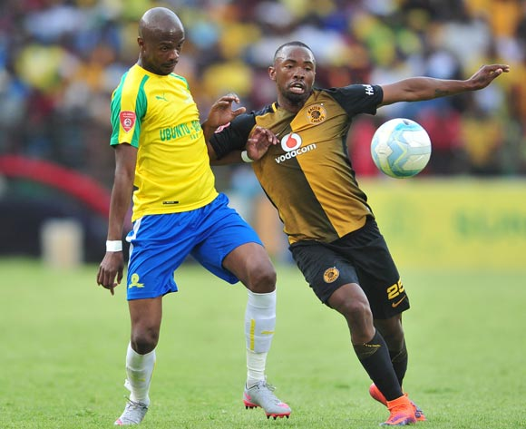 Tebogo Langerman of Mamelodi Sundowns challenged by Bernard Parker of Kaizer Chiefs  during the Absa Premiership match between Mamelodi Sundowns and Kaizer Chiefs at the Loftus Stadium in Pretoria on the 19 November 2016©Samuel Shivambu/Backpagepix