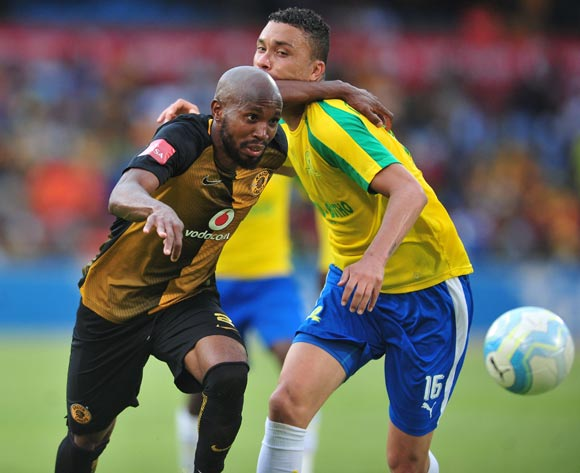 Ramahlwe Mphahlele of Kaizer Chiefs challenged by Ricardo Nascimento of Mamelodi Sundowns during the Absa Premiership match between Mamelodi Sundowns and Kaizer Chiefs at the Loftus Stadium in Pretoria on the 19 November 2016©Samuel Shivambu/Backpagepix