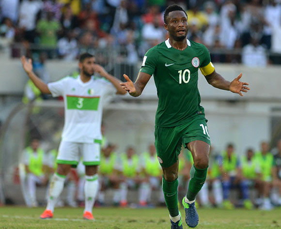 John Obi MIKEL of Nigeria during the Russia 2018 World Cup Qualifier match between Nigeria vs Algeria on November, 12th 2016 at Godswill Akpabio Stadium ©Kabiru Abubakar//Backpagepix