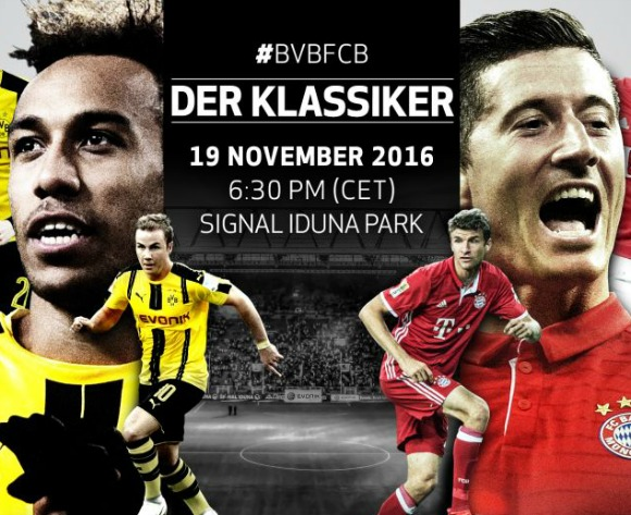 Aubameyang vs Lewandoski battle in Der Klassiker