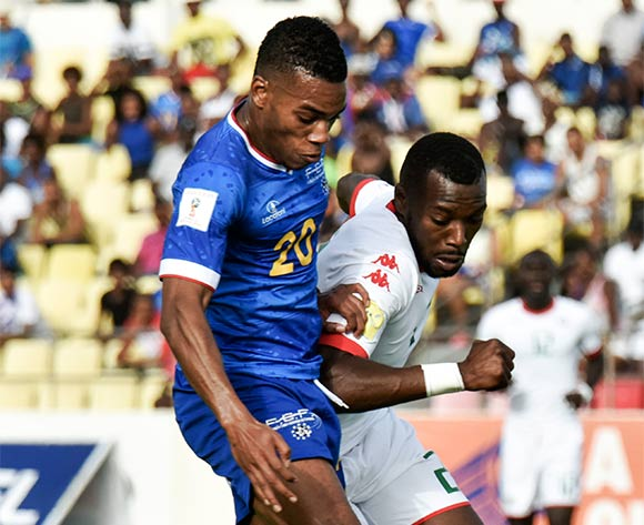 Cape Verde's player Garry Rodrigues (L) vies for the ball against Burkina Faso's player Steeve Yago (R) during their 2018 FIFA World Cup qualifying soccer match held at National Stadium Praia in Cidade da Praia, Cape Verde, 12 November 2016.  EPA/ENEIAS RODRIGUES