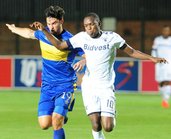 Roland Putsche of cape Town City challenged by Mogakolodi Ngele of Bidvest Wits during the Absa Premiership 2016/17 game between Bidvest Wits and Cape Town City at Bidvest Stadium, Johannesburg on 02 December 2016 © Aubrey Kgakatsi/BackpagePix