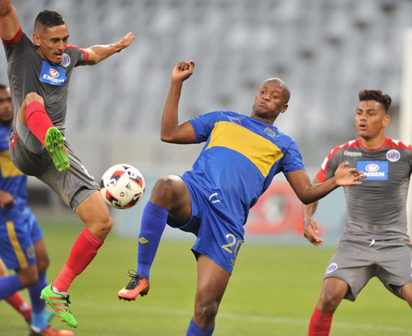 Judas Moseamedi of Cape Town City FC during the 2016 ABSA Premiership match between Cape Town City FC and Supersport United at the Cape Town Stadium,CAPE TOWN, on 16 December 2016  ©Luigi Bennett/BackpagePix