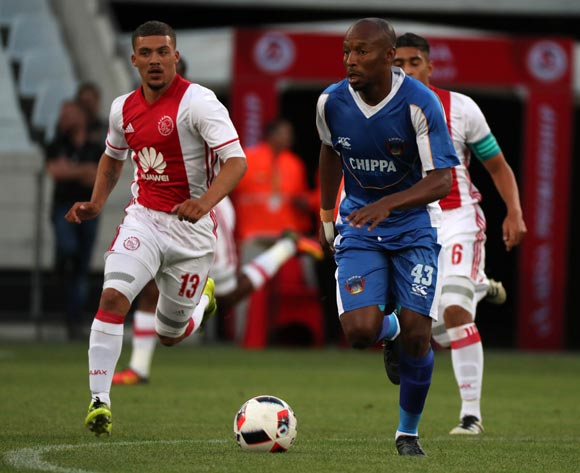 Katlego Mashego of Chippa United gets away from Grant Margeman of Ajax Cape Town during the Absa Premiership 2016/17 football match between Ajax Cape Town and Chippa United at Cape Town Stadium, Cape Town on 21 December 2016 ©Chris Ricco/BackpagePix