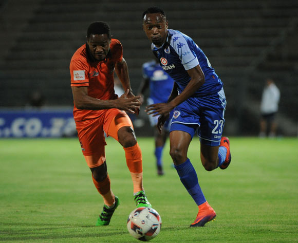 Thabiso Semenya of Polokwane City challenges Thabo Mnyamane of Supersport United  during the Absa Premiership match between Supersport United and Polokwane City  on the 21 December 2016 at Lucas Moripe Stadium Pic Sydney Mahlangu/ BackpagePix