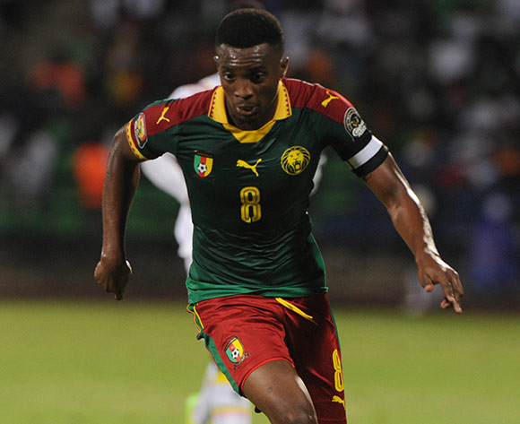 Benjamin Moukandjo of Cameroon during the Afcon Quarter Final match between Senegal and Cameroon on the 28 January 2017 at Franceville , Gabon Pic Sydney Mahlangu/ BackpagePix