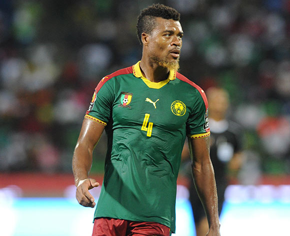 Adolph Teikeu Kamgang of Cameroon during the Afcon Quarter Final match between Senegal and Cameroon on the 28 January 2017 at Franceville , Gabon Pic Sydney Mahlangu/ BackpagePix