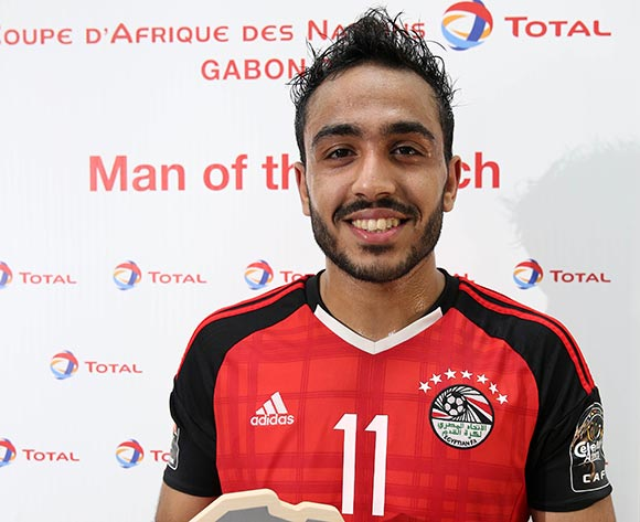 Mahmoud Abdelmoneim Kahraba of Egypt  wins Total Man of the Match during the 2017 Africa Cup of Nations Finals football Quarter Final match between Egypt and Morocco at the Port Gentil Stadium in Gabon on 29 January 2017 ©Chris Ricco/BackpagePix