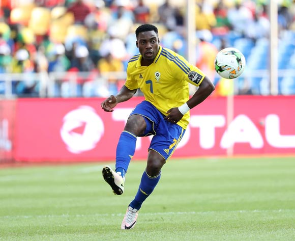 Evouna Malick of Gabon during the 2017 Africa Cup of Nations Finals football match between Gabon and Guinea Bissau at the Libreville Stadium in Gabon on 14 January 2017 ©Gavin Barker/BackpagePix