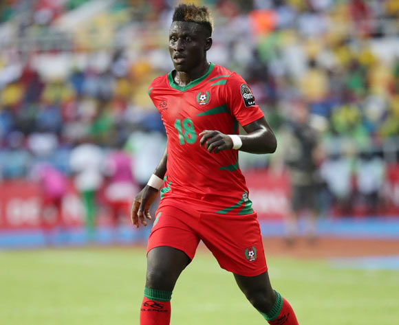 Piqueti Djassi Brito of Guinea Bissau during the 2017 Africa Cup of Nations Finals football match between Gabon and Guinea Bissau at the Libreville Stadium in Gabon on 14 January 2017 ©Gavin Barker/BackpagePix