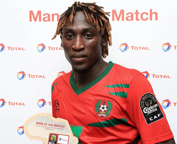 Jose Mendes Lopes Zezinho of Guinea Bissau  wins Total Man of the Match during the 2017 Africa Cup of Nations Finals football match between Gabon and Guinea Bissau at the Libreville Stadium in Gabon on 14 January 2017 ©Gavin Barker/BackpagePix