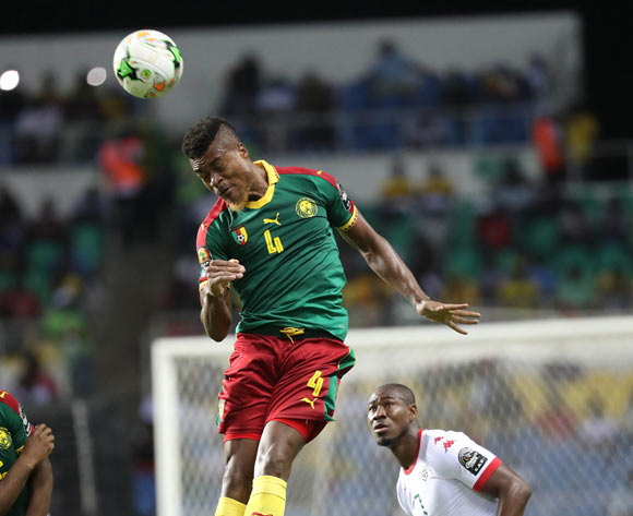 Adolph Teikeu of Cameroon  during the 2017 Africa Cup of Nations Finals football match between Burkina Faso and Cameroon at the Libreville Stadium in Gabon on 14 January 2017 ©Gavin Barker/BackpagePix