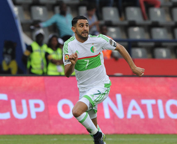 Riyad Karim Mahrez of Algeria  during the Afcon Group B match between Algeria and Zimbabwe on the 15 January 2017 at Franceville Stadium, Gabon Pic Sydney Mahlangu/ BackpagePix