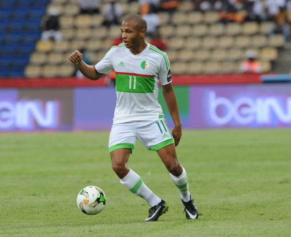 Yacine Brahim of Algeria during the Afcon Group B match between Algeria and Zimbabwe on the 15 January 2017 at Franceville Stadium, Gabon Pic Sydney Mahlangu/ BackpagePix