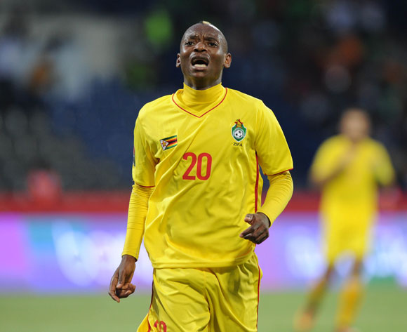 Khama Billiat of Zimbabwe during the Afcon Group B match between Algeria and Zimbabwe on the 15 January 2017 at Franceville Stadium, Gabon Pic Sydney Mahlangu/ BackpagePix