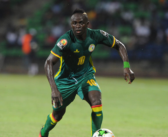 Sadio Mane of Senegal during the Afcon Group B match between Tunisia and Senegal on the 15 January 2017 at Franceville Stadium, Gabon Pic Sydney Mahlangu/ BackpagePix