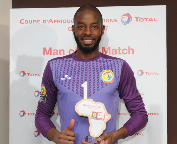 Abdoulaye Diallo of Snegal awarded TOTAL man of the match during the Afcon Group B match between Tunisia and Senegal on the 15 January 2017 at Franceville Stadium, Gabon Pic Sydney Mahlangu/ BackpagePix
