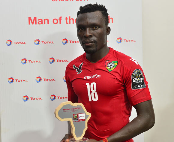 Atakora Lalawele awarded Total man of the match during the 2017 Africa Cup of Nations Finals match between Ivory Coast and Togo at the Oyem Stadium in Gabon on 16 January 2017 ©Samuel Shivambu/BackpagePix