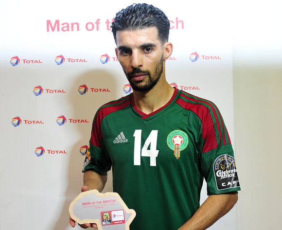 Mbark Boussoufa of Morocco awarded Toal man of the match during the 2017 Africa Cup of Nations Finals match between DR Congo and Morocco at the Oyem Stadium in Gabon on 16 January 2017 ©Samuel Shivambu/BackpagePix