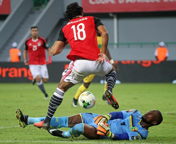 Oumar Sissoko of Mali and Marwan Fahmy of Egypt challenge for ball during the 2017 Africa Cup of Nations Finals football match between Mali and Egypt at the Port Gentil Stadium in Gabon on 17 January 2017 ©Chris Ricco/BackpagePix