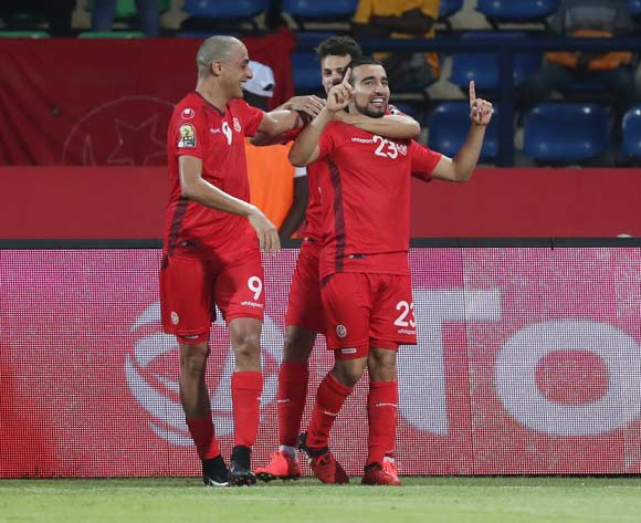 Sliti Naim of Tunisia (number 23) celebrates goal during the 2017 African Cup of Nations Finals Afcon football match between Algeria and Tunisia at the Franceville Stadium in Gabon on 19 January 2017 ©Gavin Barker/BackpagePix