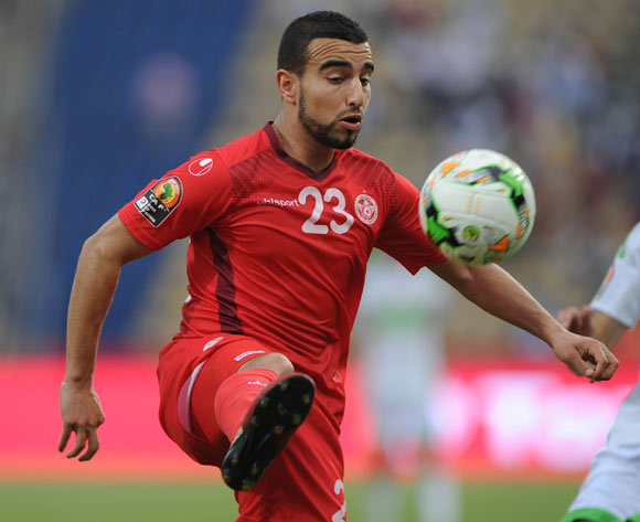 Naim Sliti of Tunisia during the Afcon Group B match between Algeria and Tunisia  on the 19 January 2017 at Franceville Stadium, Gabon Pic Sydney Mahlangu/ BackpagePix