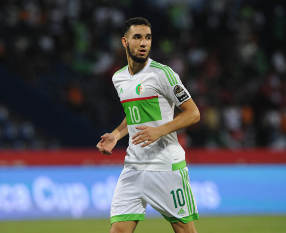 Nabil Bentaleb of Algeria during the Afcon Group B match between Algeria and Tunisia  on the 19 January 2017 at Franceville Stadium, Gabon Pic Sydney Mahlangu/ BackpagePix