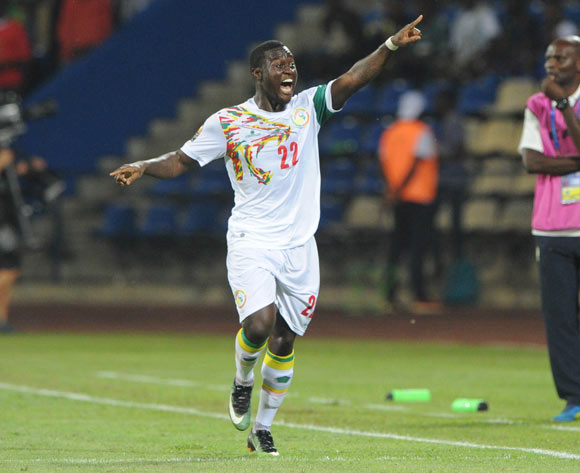 Henri Saivet of Senegal celebrates goal  during the Afcon Group B match between Senegal and Zimbabwe  on the 19 January 2017 at Franceville Stadium, Gabon Pic Sydney Mahlangu/ BackpagePix