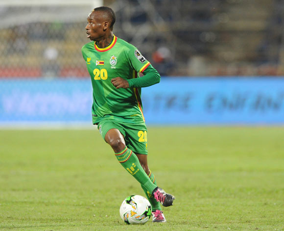 Khama Billiat of Zimbabwe  during the Afcon Group B match between Senegal and Zimbabwe  on the 19 January 2017 at Franceville Stadium, Gabon Pic Sydney Mahlangu/ BackpagePix