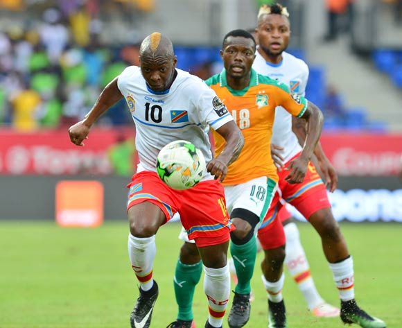 Neeskens Kebano of DR Congo challenged by Adama Traore of Ivory Coast during the 2017 Africa Cup of Nations Finals match between Ivory Coast and DR Congo at the Oyem Stadium in Gabon on 20 January 2017 ©Samuel Shivambu/BackpagePix