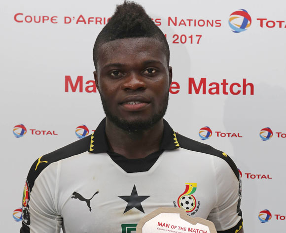 Thomas Partey of Ghana, wins Total Man of the Match during the 2017 Africa Cup of Nations Finals football match between Ghana and Mali at the Port Gentil Stadium in Gabon on 21 January 2017 ©Chris Ricco/BackpagePix