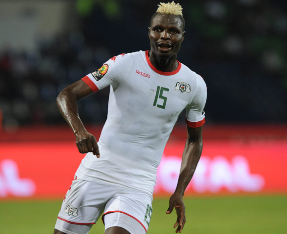 Aristide Bance of Burkina Faso during the Afcon Group A match between  Guinea Bissau and Burkina Faso  on the 22 January 2017 at Franceville , Gabon Pic Sydney Mahlangu/ BackpagePix