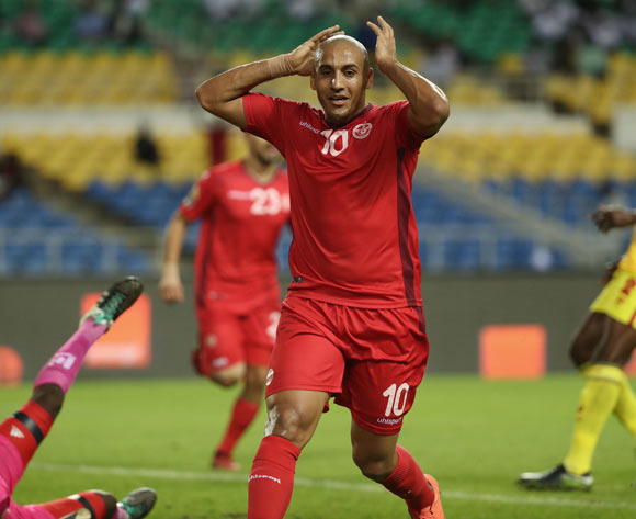 Wahbi Khazri of Tunisia reacts in disappointment after disallowe goal during the 2017 African Cup of Nations Finals Afcon football match between Zimbabwe and Tunisia  at the Libreville Stadium in Gabon on 23 January 2017 ©Gavin Barker/BackpagePix