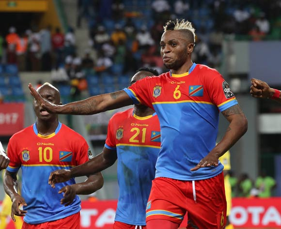 Junior Kalonji of DR Congo celebrates goal during the 2017 Africa Cup of Nations Finals football match between Togo and DR Congo at the Port Gentil Stadium in Gabon on 24 January 2017 ©Chris Ricco/BackpagePix