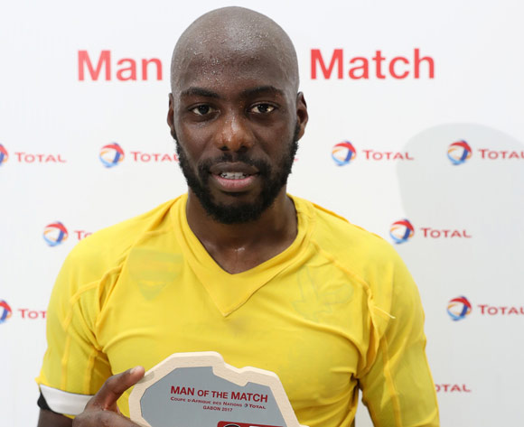 Yousuf Mulumbu of DR Congo wins Total Man of the Match during the 2017 Africa Cup of Nations Finals football match between Togo and DR Congo at the Port Gentil Stadium in Gabon on 24 January 2017 ©Chris Ricco/BackpagePix
