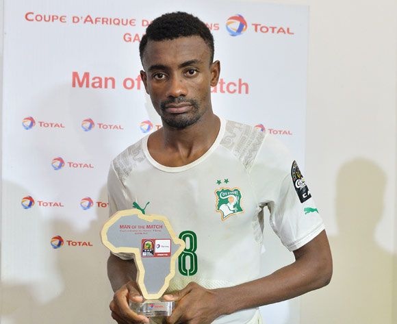 Salomon Kalou of Ivory Coast wins Total man of the match during the 2017 Africa Cup of Nations Finals match between Morocco and Ivory Coast at the Oyem Stadium in Gabon on 24 January 2017 ©Samuel Shivambu/BackpagePix
