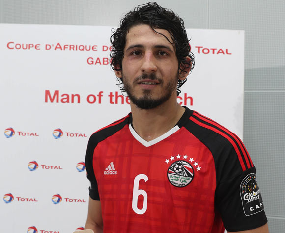 Ahmed Hegazy of Egypt wins Total Man of the Match during the 2017 Africa Cup of Nations Finals football match between Egypt and Ghana at the Port Gentil Stadium in Gabon on 25 January 2017 ©Chris Ricco/BackpagePix