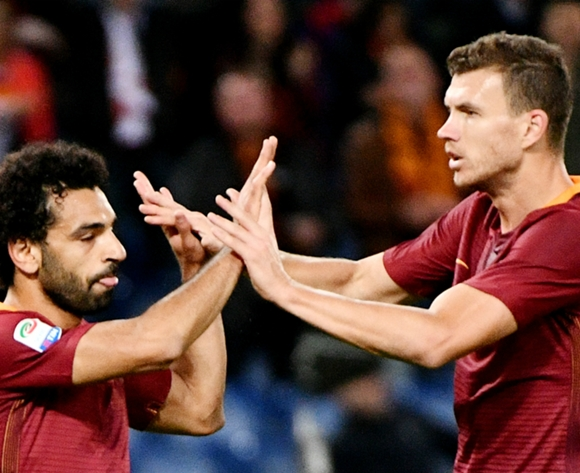 Edin Dzeko happy to have Mohamed Salah back