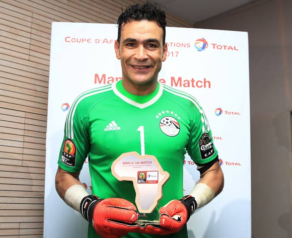 Essam El Hadary of Egypt wins Total Man of the Match during the 2017 African Cup of Nations Finals Afcon semifinal football match between Burkina Faso and Egypt at the Libreville Stadium in Gabon on 01 February 2017 ©Gavin Barker/BackpagePix