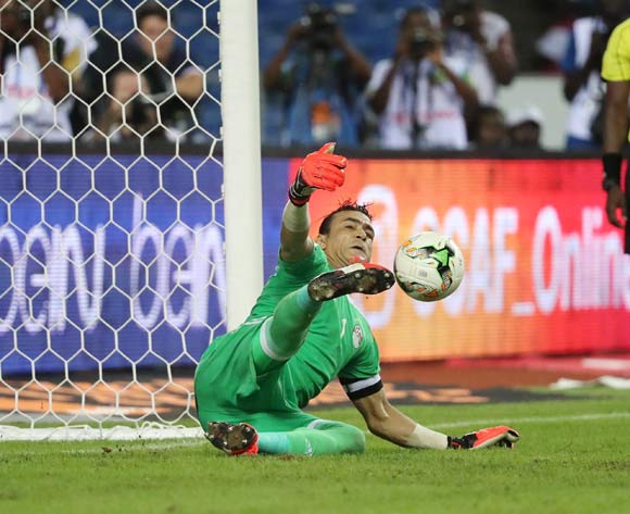 Essam El Hadary of Egypt saves penalty from Bertrand Traore of Burkina Faso during the 2017 African Cup of Nations Finals Afcon semifinal football match between Burkina Faso and Egypt at the Libreville Stadium in Gabon on 01 February 2017 ©Gavin Barker/BackpagePix