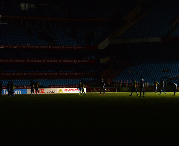 Loftus stadium lights went off during the Absa Premiership 2016/17 match between Mamelodi Sundowns and Chippa United at Loftus Stadium, South Africa on 28 February 2017 ©Samuel Shivambu/BackpagePix