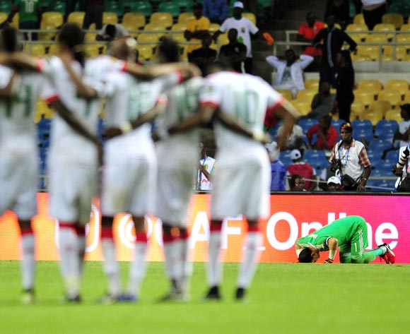 Essam El Hadary of Egypt prepare for the penlaty during the 2017 Africa Cup of Nations Finals Afcon SemiFinal match between Burkina Faso and Egypt at the Libreville Stadium in Gabon on 01 February 2017 ©Samuel Shivambu/BackpagePix
