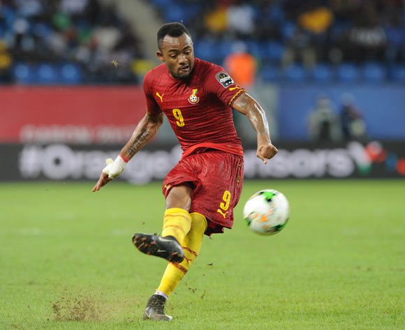Jordan Ayew of Ghana during the 2017 Africa Cup of Nations Finals 3&4 match playoff between Burkina Faso and Ghana at the Port Gentil  in Gabon on 04 February 2017 ©Sydney Mahlangu/BackpagePix